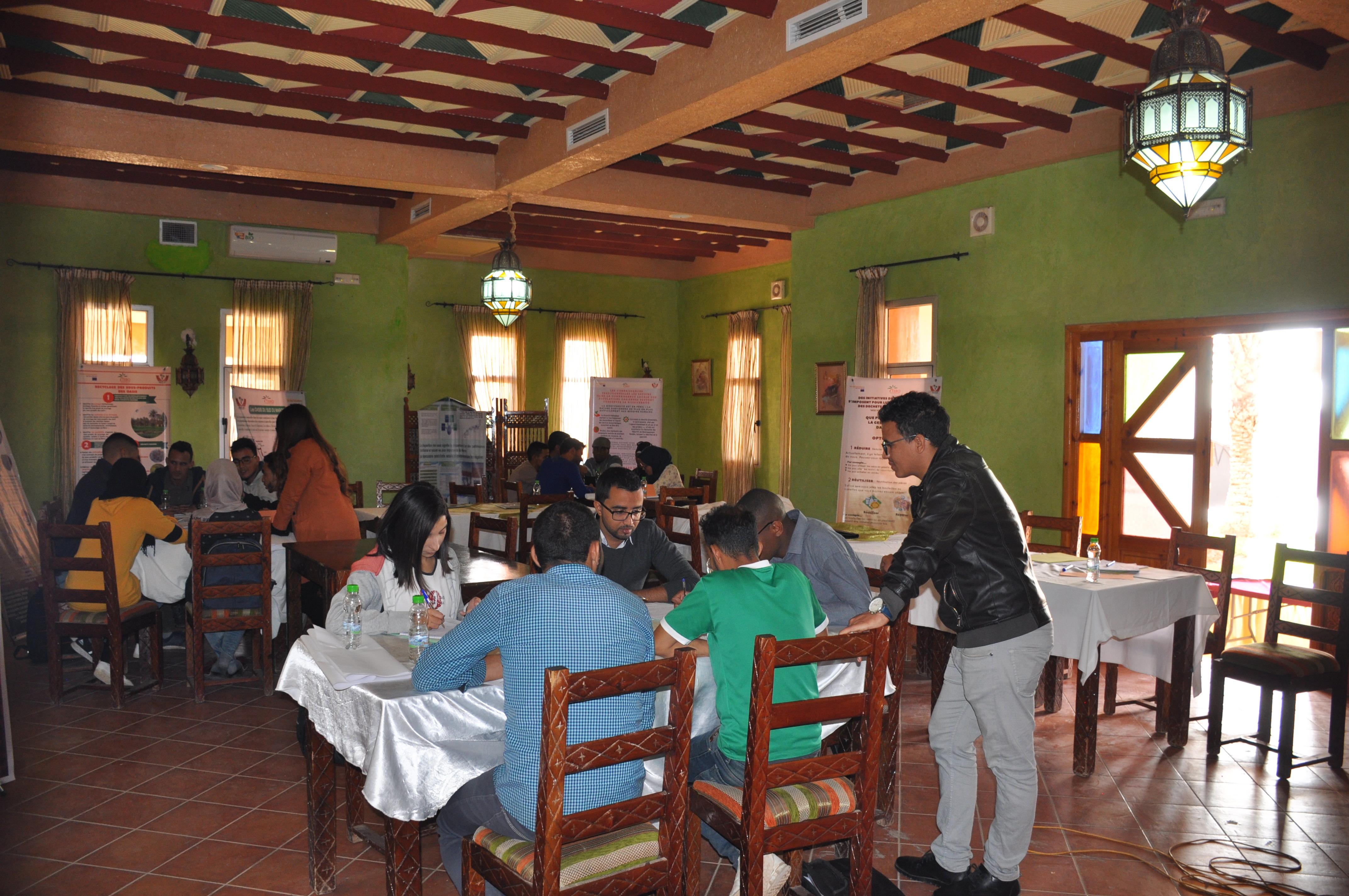Atelier de formation des jeunes à Errachidia