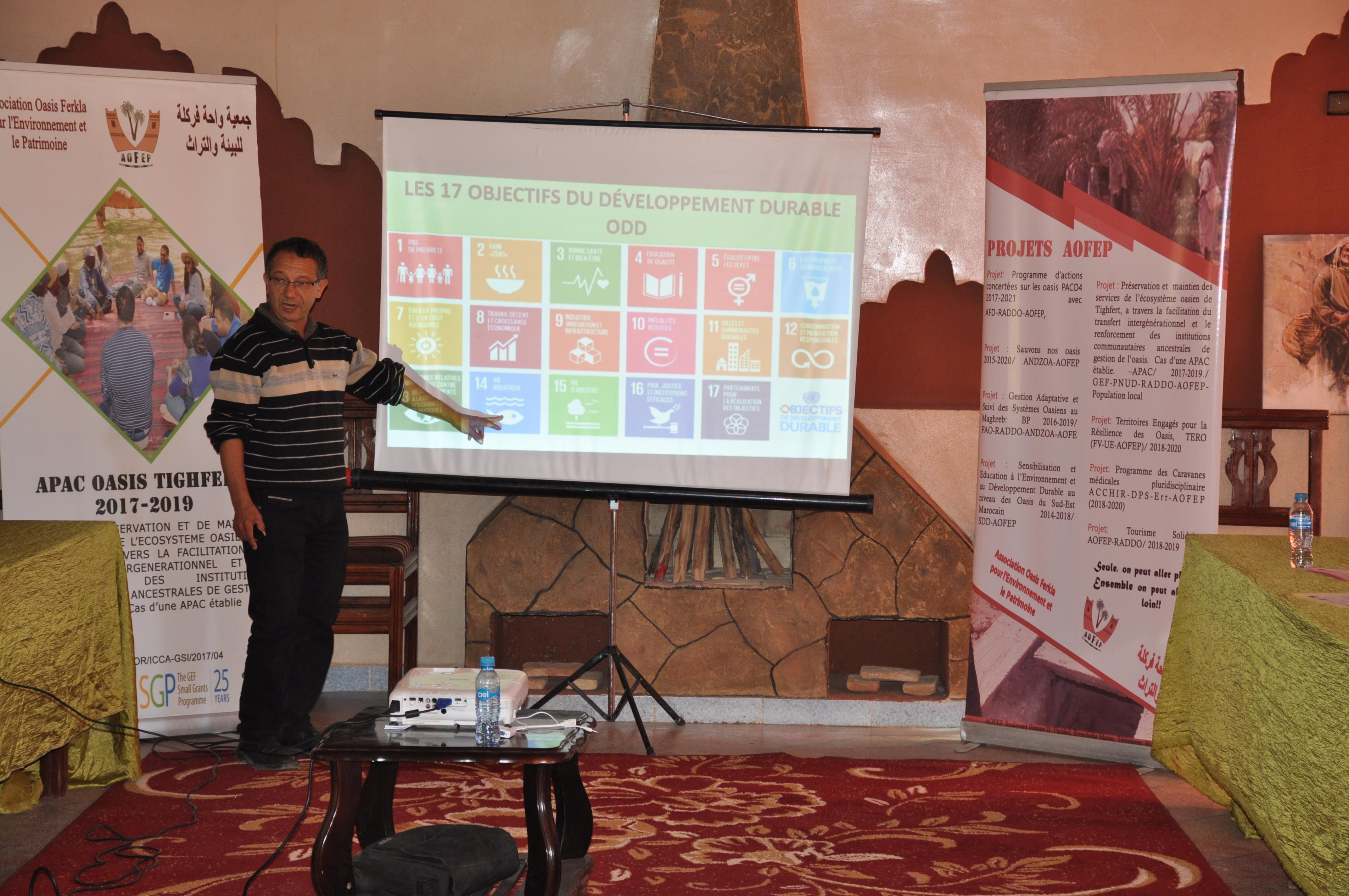 Atelier de sensibilisation et de diffusion des bonnes pratiques oasiennes au Maroc